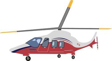 ilustração vetorial vermelho cinza helicóptero vetor