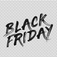 Parede de tijolo alta detalhadas com ilustração em vetor pintura 'Black sexta-feira'
