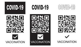 passe de vacinação cobiçado. ilustração vetorial vetor