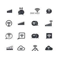 ilustração das imagens do logotipo wireles vetor