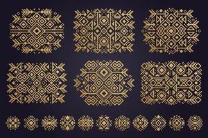 elementos do vetor asteca. conjunto de ornamentos étnicos.