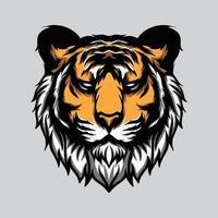 desenho de cabeça de tigre vetor