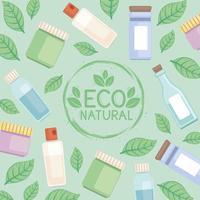 padrão de produtos ecológicos vetor