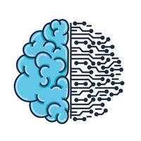 cérebro e circuito vetor