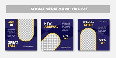modelo editável de feed de mídia social vetor