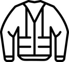 ícone de linha para jaqueta de construção vetor