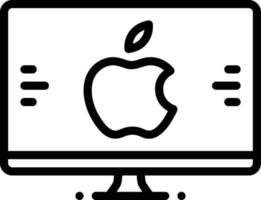 ícone de linha para mac vetor