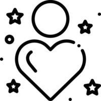 ícone de linha para sinceridade vetor