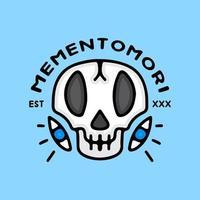 esqueleto e olhos em estilo exagero. ilustração para camiseta vetor