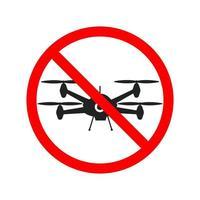 sem zona de vôo, sinal de drone. ilustração vetorial vetor