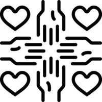 ícone de linha para voluntário vetor