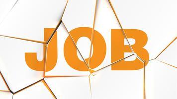 Palavra de 'trabalho' em uma superfície branca quebrada, ilustração vetorial vetor