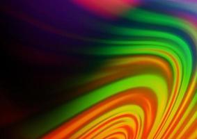 fundo escuro multicolorido do vetor do arco-íris com linhas dobradas.