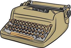 ilustração vetorial retrô máquina de escrever desenho doodle vetor