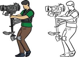 transportadora tiro estável luta contra vetor de tremor de câmera