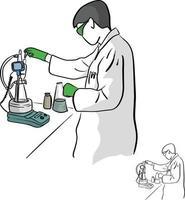 química feminina trabalhando em vetor de laboratório