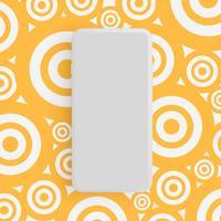 Telefone cinzento fosco realista com fundo colorido, ilustração vetorial vetor