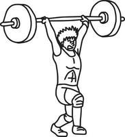 levantamento de peso - desenho de ilustração vetorial desenhado à mão vetor
