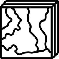 ícone de linha para hiperespectral vetor