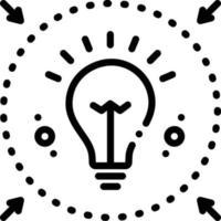 ícone de linha para denotar vetor