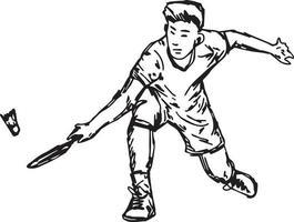 badminton profissional com peteca - vetor