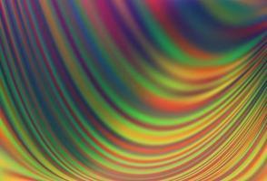 modelo de vetor de arco-íris multicolorido escuro com fitas dobradas.