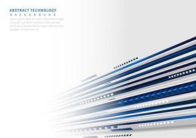 abstrato perspectiva tecnologia geométrica fundo azul e cinza. vetor