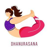 ilustração em vetor plana dhanurasana
