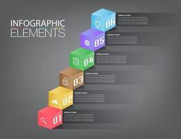 intensificar o conceito de negócio bem sucedido. vetor infográfico