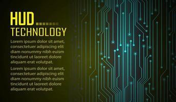 fundo de conceito de tecnologia futura de circuito cibernético de texto vetor