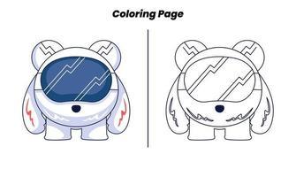 cavaleiro robô com página para colorir vetor