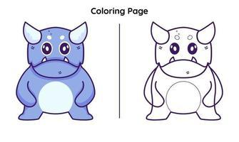 monstro com página para colorir vetor