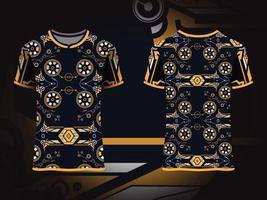 design de padrão decorativo de camiseta vetor
