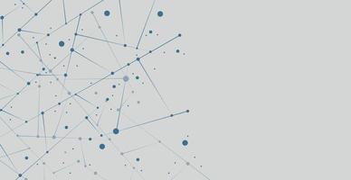 fundo branco abstrato com linhas e círculos - vetor