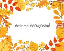 outono fundo colorido brilhante para um cartão postal ou banner vetor