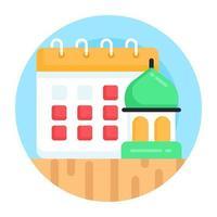 planejador almanaque ramadan vetor