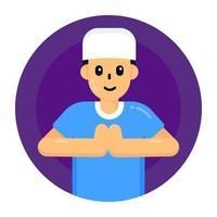 louvor e adoração muçulmanos vetor