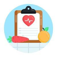 relatório de saúde e prescrição vetor