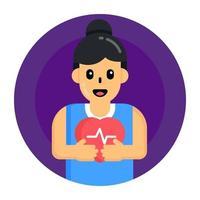 cuidados de saúde cardiovascular vetor