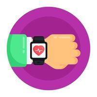 monitor de fitness e relógio inteligente vetor