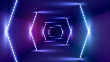 Fundo de luz de néon alta detalhado, ilustração vetorial