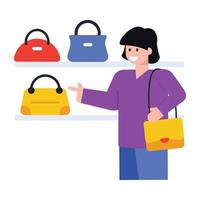 compras de bolsas femininas vetor