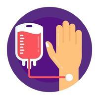 gotejamento e transfusão de sangue vetor