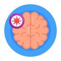 câncer cerebral e tumor vetor