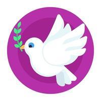 pomba pássaro da paz vetor