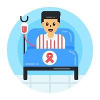 paciente com câncer e doação vetor