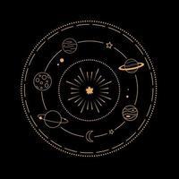 símbolos mágicos e astrológicos vetor