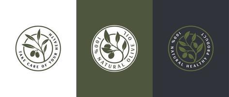 modelo de logotipo de rótulo de azeite vetor