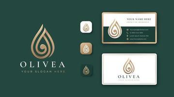 design de logotipo de gota d'água de luxo vetor