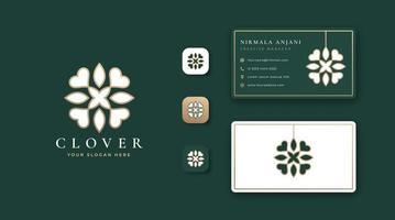 design de logotipo de trevo de luxo vetor